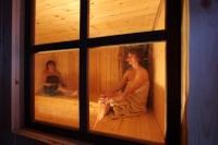 Veduta della sauna