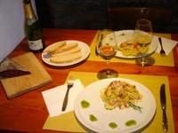 Tipica cena 'rustica' alla Grande Halte