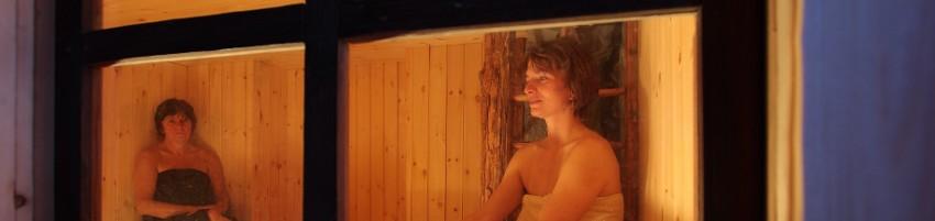 Relax in sauna alla Grande Halte